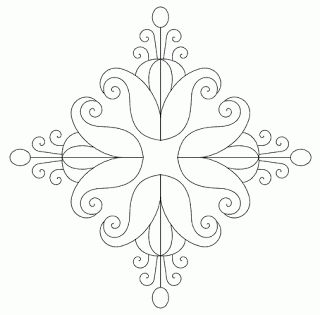 free hand embroidery combined motifs pattern