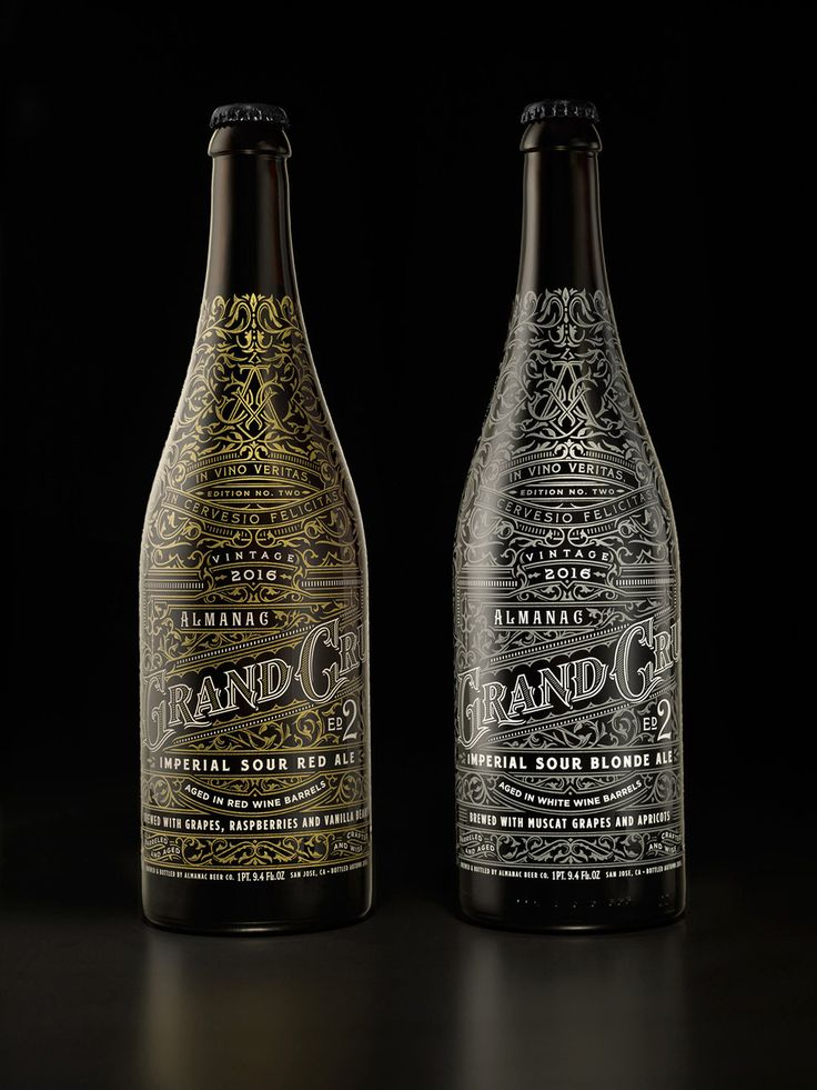 Chad Michael Studiocreated a beautiful label design for the Limited  Edition Almanac's Famous Grand Cru. Much like it's previous vintage years,  the Grand Cru Package Design is intricate, elegant and crafted with  perfection.