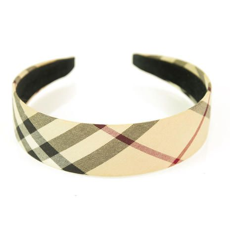 Burberry London Nova Check Checked Beige Hair Accessorrie Headband One Size