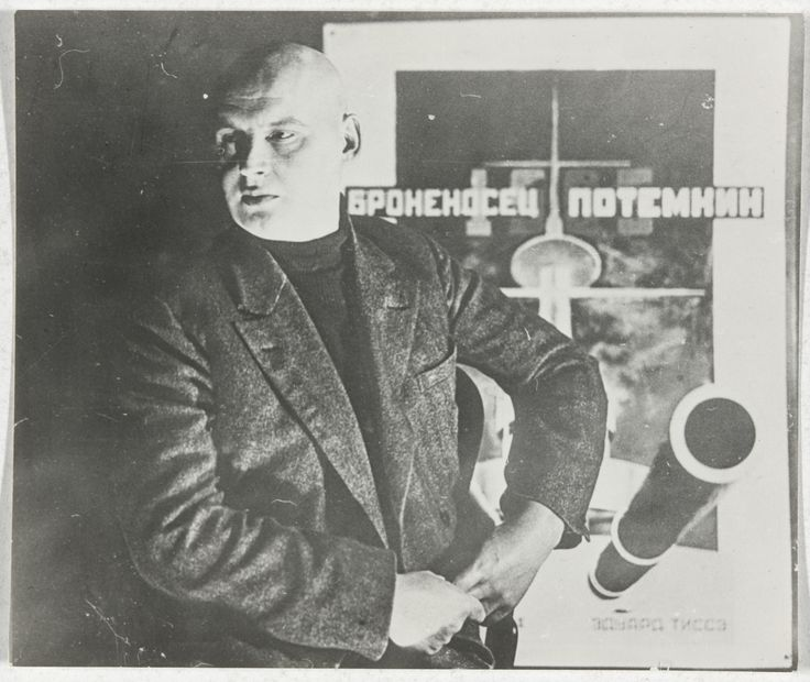Aleksandr Rodchenko, Untitled (Self-Portrait with Poster for Battleship Potemkin), c. 1925