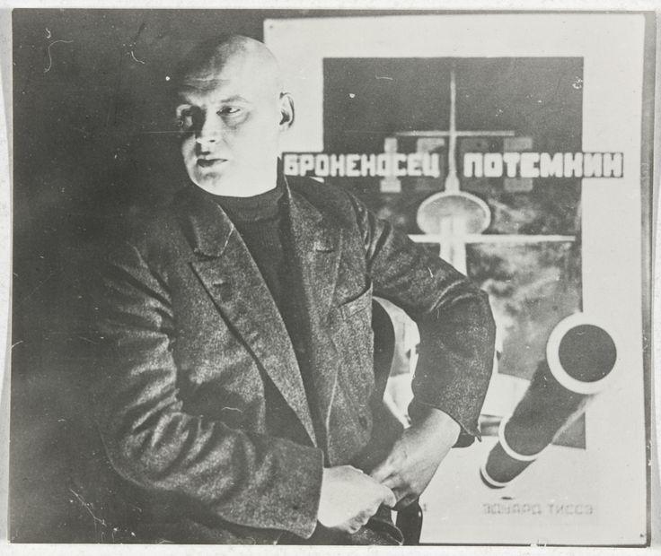 Aleksandr Rodchenko, Untitled (Self-Portrait with Poster for Battleship Potemkin), c. 1925