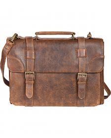 Scully Antique Lambskin Satchel Briefcase
