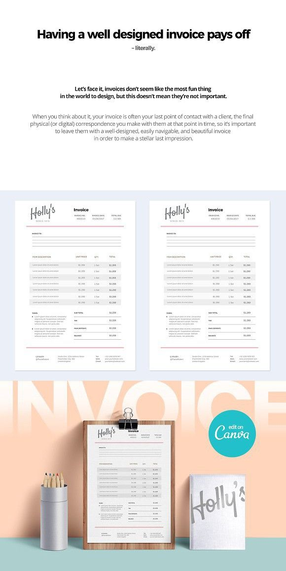 canva invoice