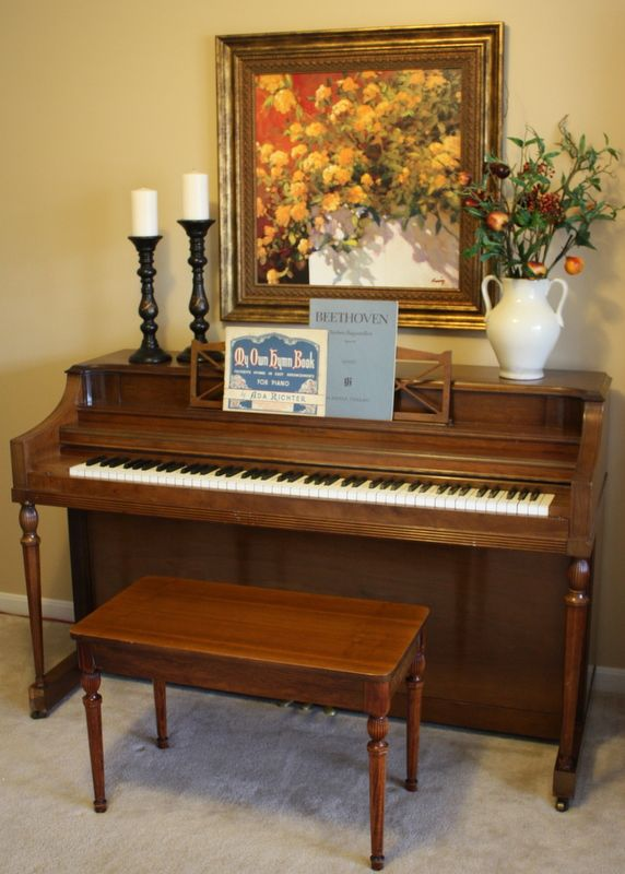 I want a piano in my home.