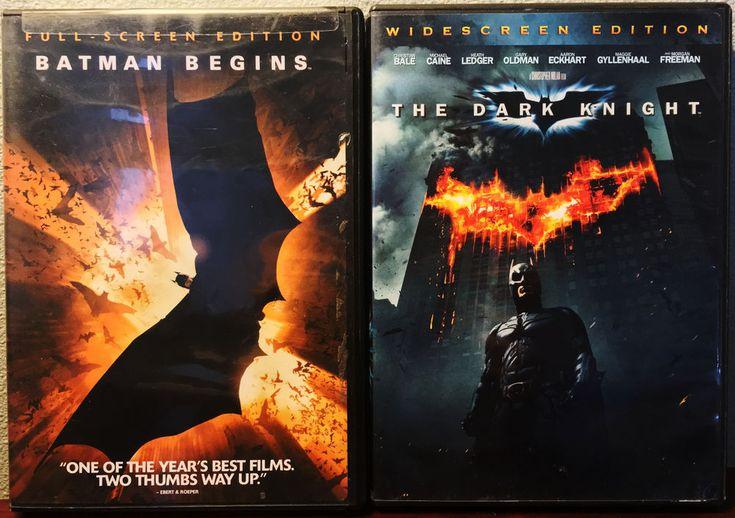 """Batman Begins"" (Full-Screen) & ""The Dark Knight"" (Widescreen) DVD Set Of 2 #Batman"