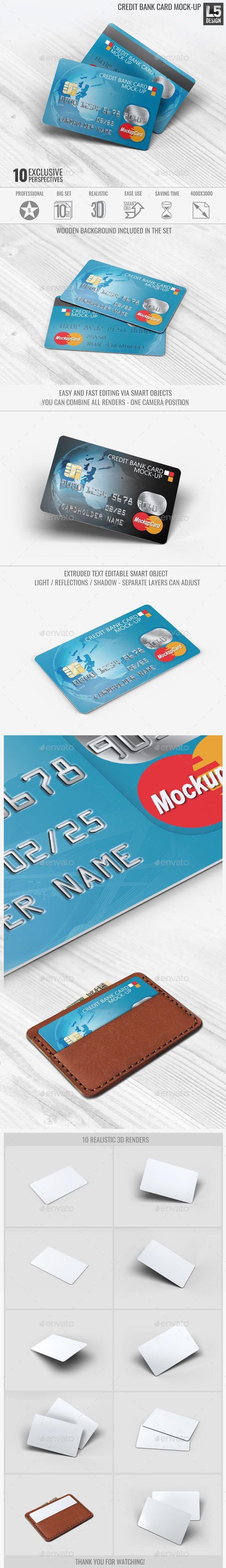 Credit Bank Card Mock-Up. Download here: http://graphicriver.net/item/credit-bank-card-mockup/15728933?ref=ksioks