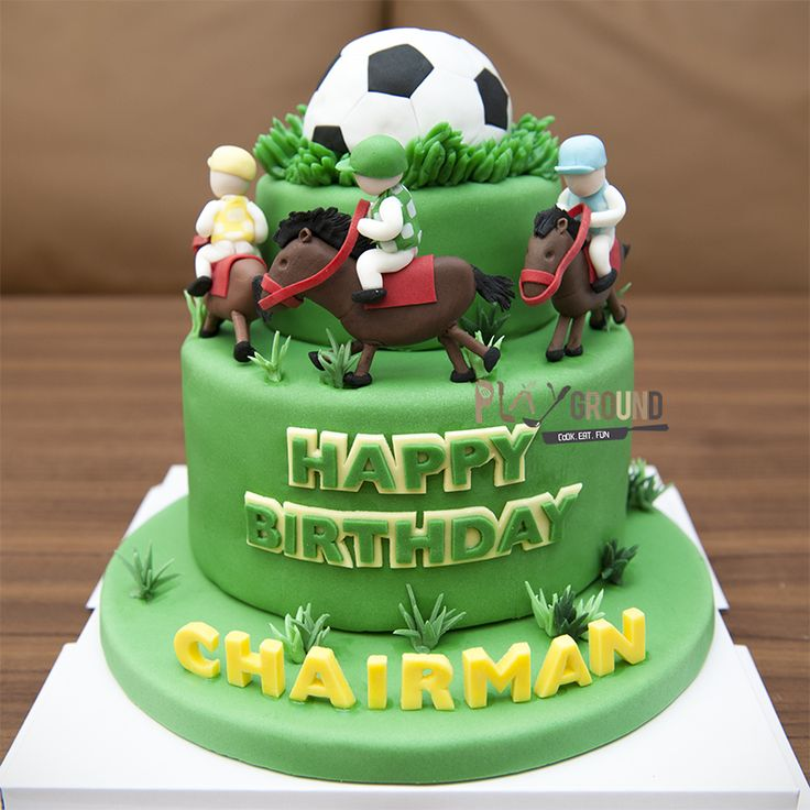 Football And Horse Racing Themed Cake Racing Cake