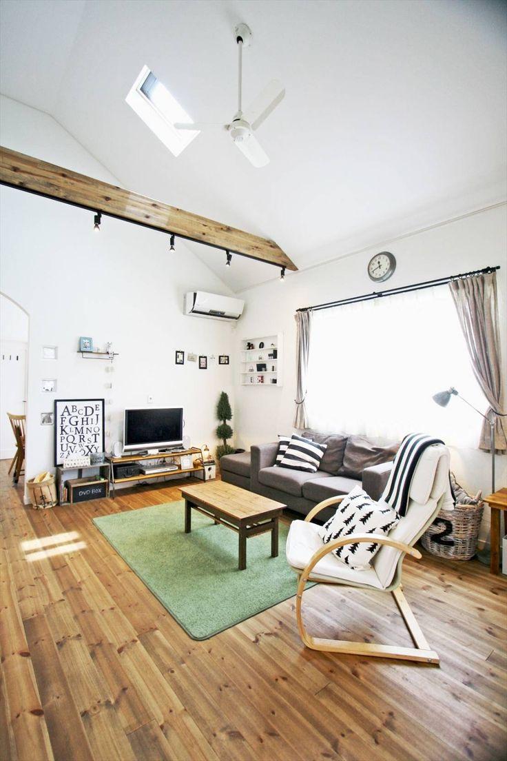 ジャストの家 の 北欧風 リビングルーム リビング - こだわりが詰まった完全二世帯住宅の家