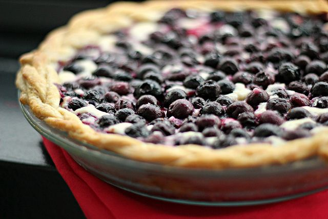 IMG_3319 by eatswellwithothers, via Flickr Blueberry cream cheese pie