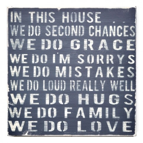"""In This House"" Wall Decor Couldn't be more my family. Good thing"