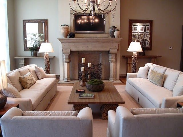 Neutral colors in the living area make for fab inspiration for any home owner, including a Liberty Homes dream home.