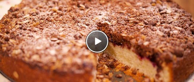 Crumblecake met rood fruit!