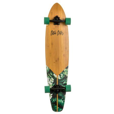 "Ten Toes ZED Bamboo Longboard Skateboard Cruiser, 44"", Multiple Colors Available"