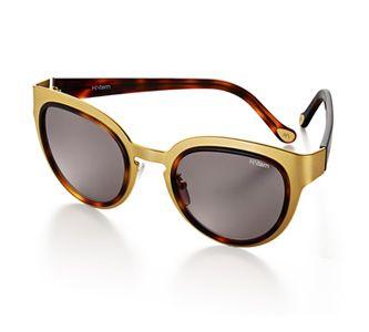 Óculos de metal dourado fosco e hastes de acetato tartaruga polido, lente marrom. Link:http://www.hstern.com.br/joias/p-produto/OC9ME202678/oculos/oculos-hs/oculos-de-metal-dourado-fosco-e-hastes-de-acetato-tartaruga-polido,-lente-marrom