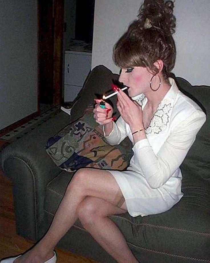 Crossdresser smoking fetish-8160