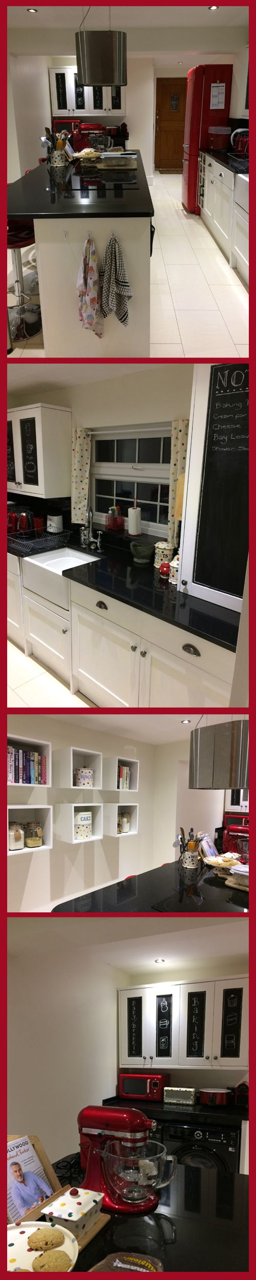 Red, Black & White Kitchen. Emma Bridgewater Polka Dot Accessories