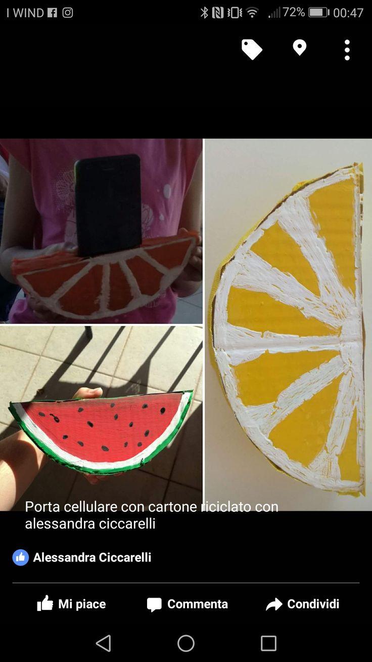 Porta cellulare con cartone riciclato
