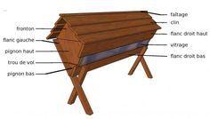 Tutoriel, plans et kit pour fabriquer une ruche TBH vitrée en bois de mélèze