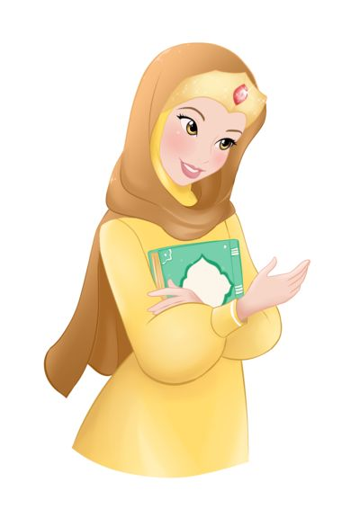 Belle Hijab ~ Commission by ainosora on DeviantArt