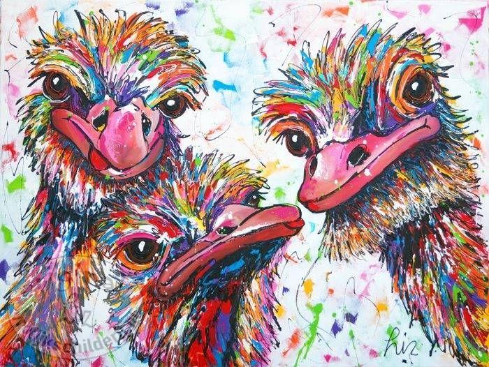 17 Beste Afbeeldingen Over Struisvogels Op Pinterest