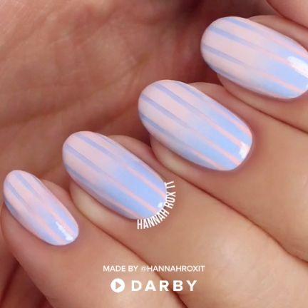 How to Get Cotton Candy Nails #nailart #naildiy #naildesign #nailtutorial