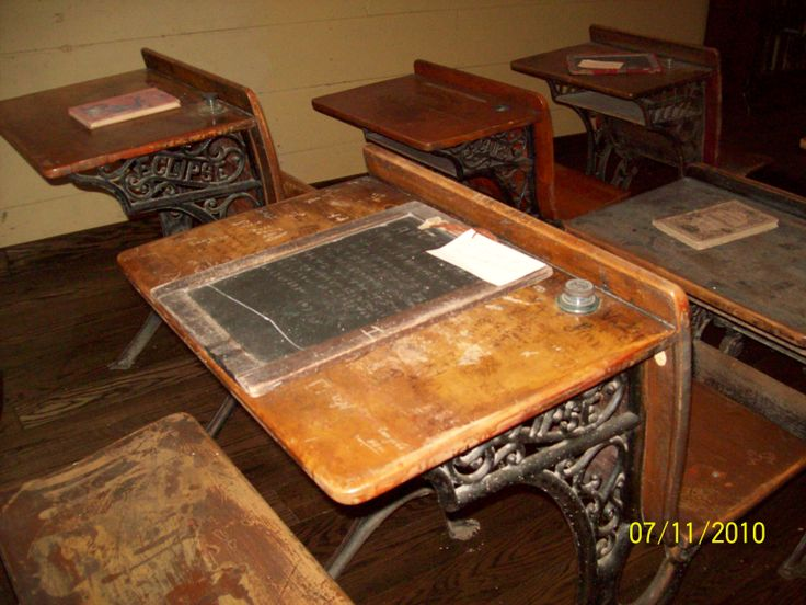 Desk /slate Canaan One Room School House Farmington Pa /Fayette Co