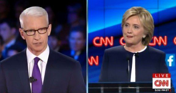 CNN Debate: Anderson Cooper to Hillary Clinton: Will You Say Anything to Get Elected? (VIDEO)  Jim Hoft Oct 13th, 2015