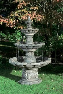 Bring Elegance To Life With An Attractive Water Feature As This Bella Three Tier  Fountain. This Stunning Fountain Brings Traditional, Old World Design In A  ...