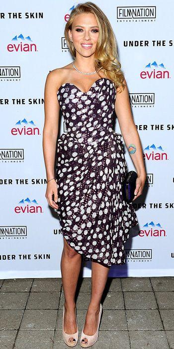 Scarlett Johansson - Red Carpet Premiere Fashion Photos - Toronto International Film Festival 2013 - Celebrity - InStyle rocking Vivienne Westwood
