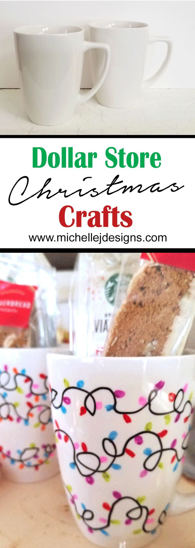 Dollar Store Christmas Craft – Holiday Mugs For Gift Giving
