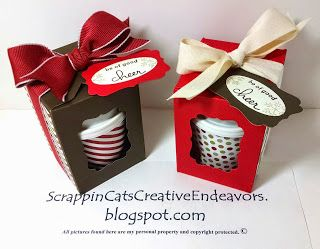 Welcome to Scrappin' Cat's Creative Endeavors Mini Coffee Cups in a Gift Box, inspired by Pinterest.