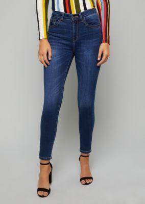 4af7e9d73b2 Dark Wash High Waisted Skinny Booty Jeans