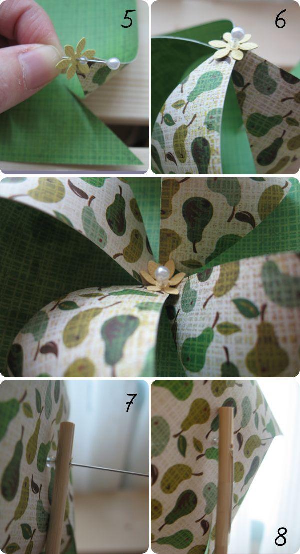 DIY Pinwheels Steps 5 8