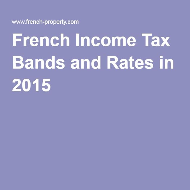 SOCIAL PROGRAMS French Income Tax Bands and Rates in 2015