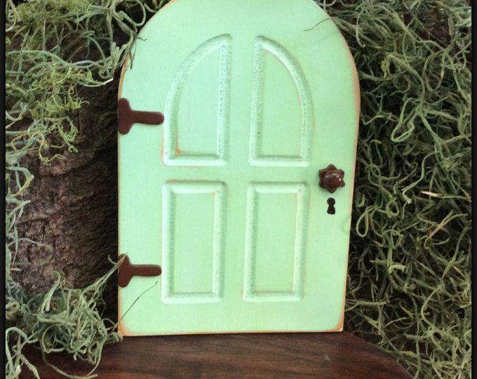 Green, Fairy Tuin, Fairy deur, Tuin Decor, buiten Fairy deur, verjaardag, giften voor haar, muur, boom, bedroefd, Inwijdingsfeest