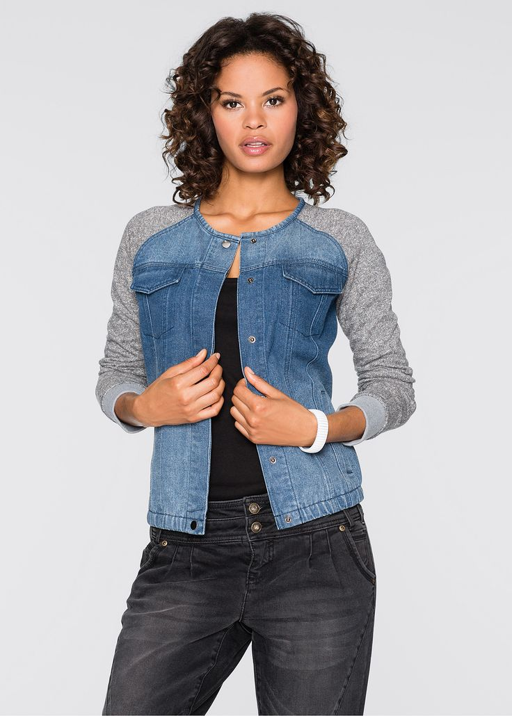 Denim top with knot sleeves
