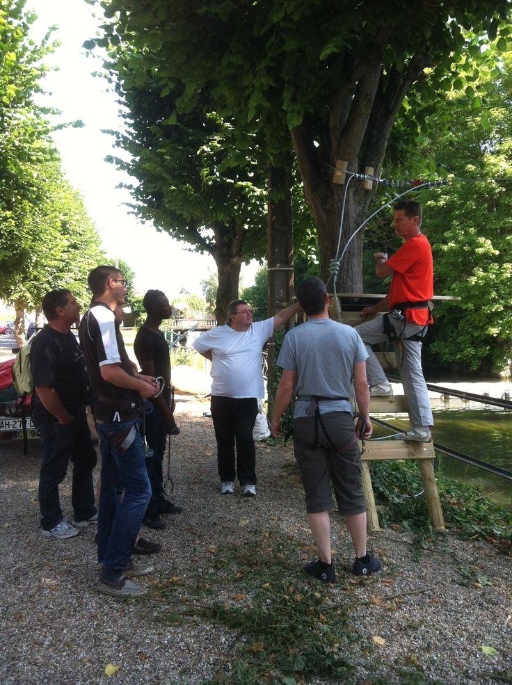 Formation accrobranche en vue de l'accueil du public sur #Louviers Plage