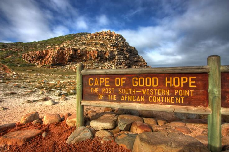 Cape of Good Hope. All I can think of is going back to the restaurant at the top of that hill you see.