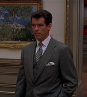 Pierce brosnan James Bond Grey 3 piece suit