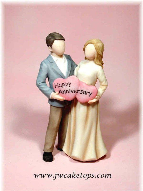 Any Year Wedding Anniversary Cake Top