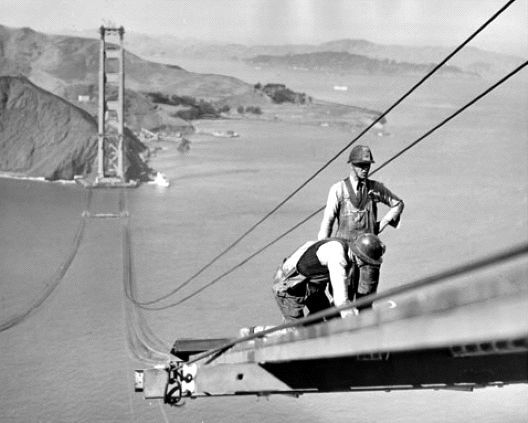construction Golden Gate Bridge 16 La construction du Golden Gate Bridge photo histoire featured architecture