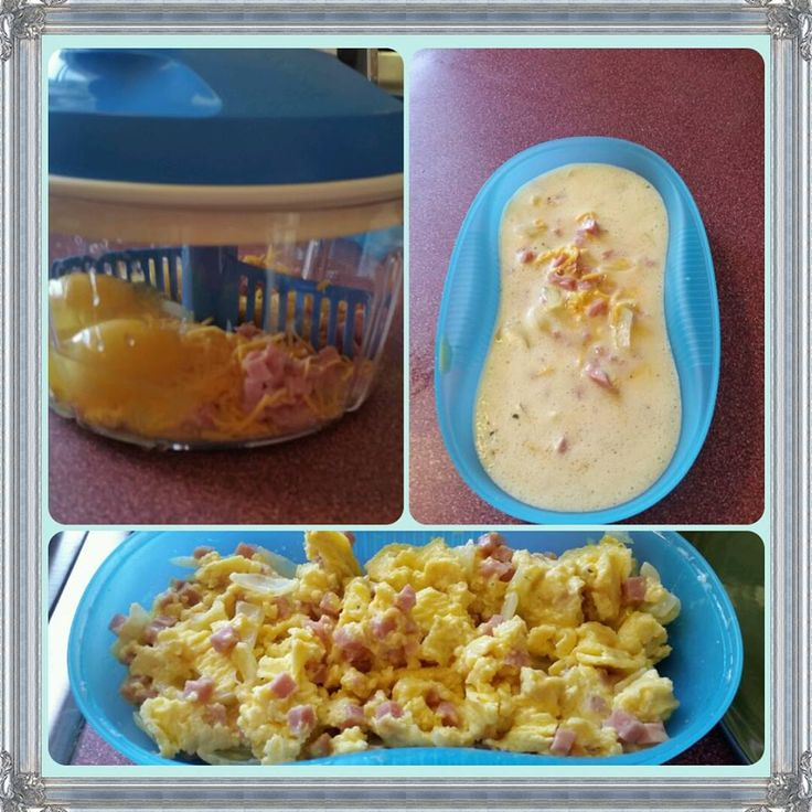 Enjoy a quick and easy breakfast with our Tupperware Kitchen products. Quick easy microwave eggs using the Breakfast Maker and Quick Chef Pro. #Tupperware www.facebook.com/funtastictupperwarebychristina