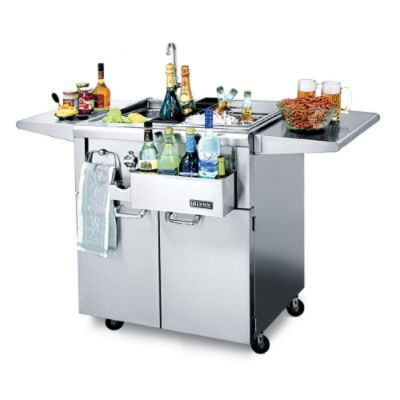 Our well-appointed Lynx Freestanding Cocktail Pro Station lets you prepare ice-cold drinks like a professional bartender while you prepare a succulent    outdoor feast for your guests. This cocktail station is designed to complement our Lynx Built-in Grills.Stainless steel sink with faucet has built-in water filtration system Bottle boots chill juice, wine, and mixers Insulated ice bin with sliding stainless steel cover holds ice for extended periods Speed rail front bottle storage allow...