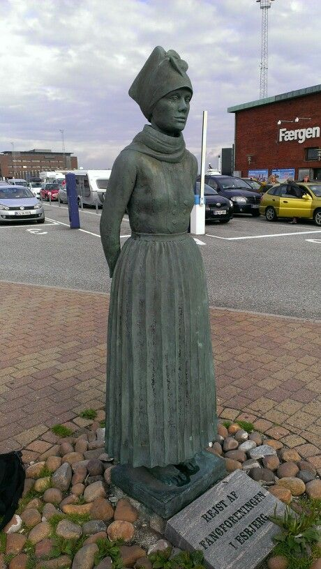 Fanø pigen på Esbjerg havn