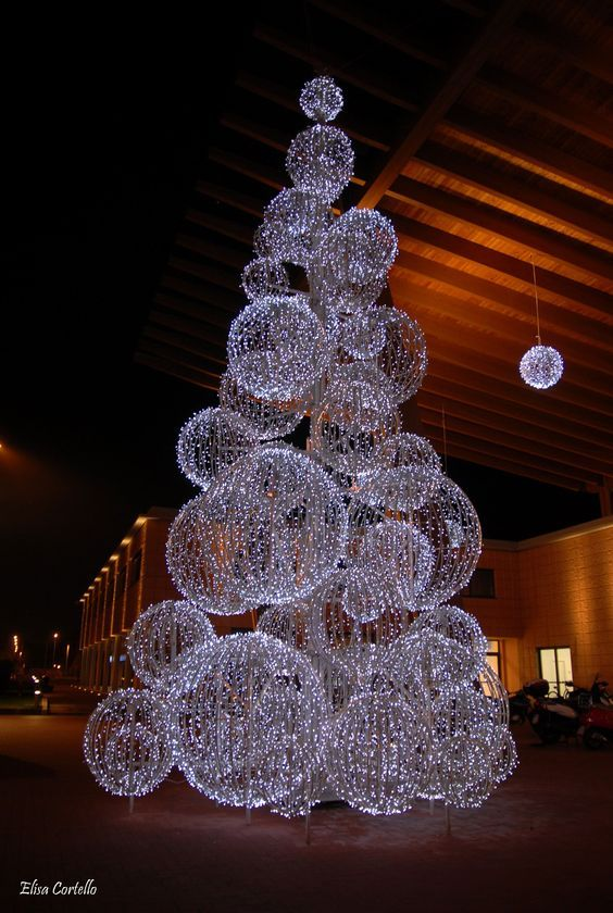 Outdoor Christmas Lights Commercial Part - 23: Christmas Light Balls: