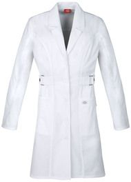 Dickies Medical 82410 Bata de Laboratorio Manga Larga para Mujer