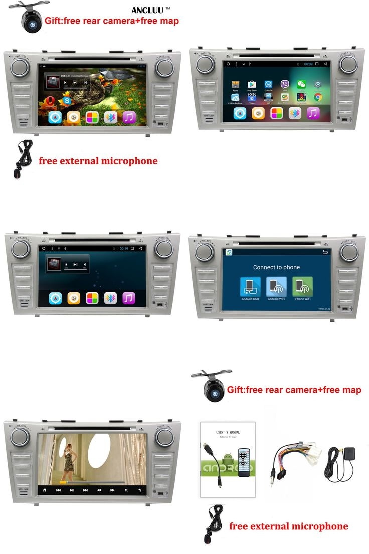 "[Visit to Buy] 1024*600 2 Din Quad Core 8"" Android 6.0 Car DVD GPS Navigation For Toyota Camry 2007 2008 2009 2010 Head Unit Car Stereo radio #Advertisement"