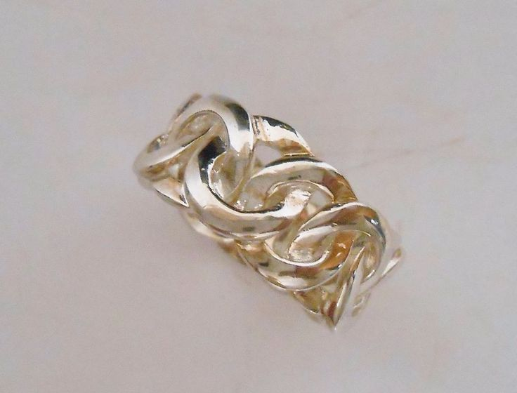 Sterling Silver Band Love Knot Ring Size 8.5 #CAA #Band