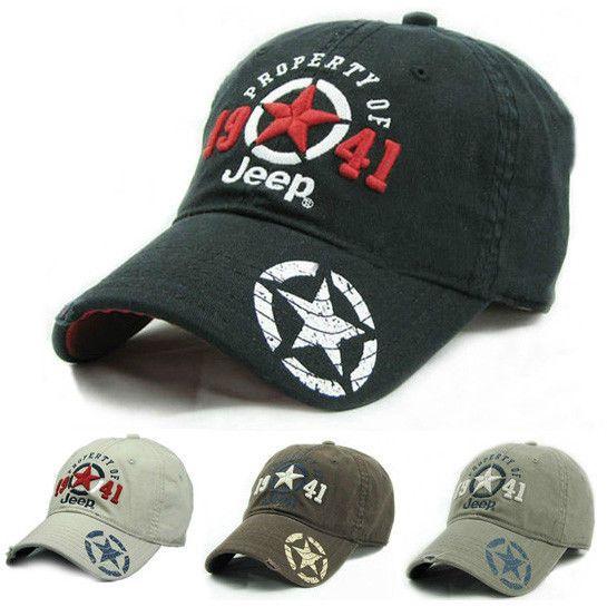 Jeep Men Women Hat Baseball Hat Golf Cap Outdoor Sports Casquette Adjustable Hat