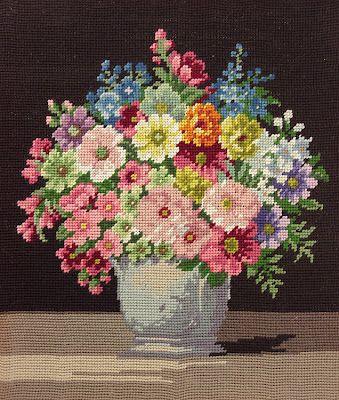 Vintage Home #needlework #flowers